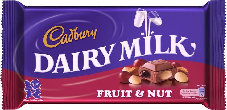Cadbury Chocolate: Milk Chocolate or 'Fruit & Nut'