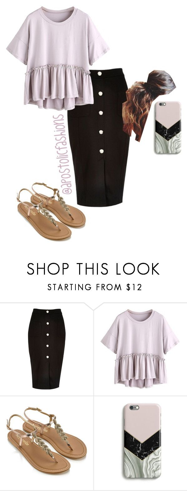 """""""Apostolic Fashions #1759"""" by apostolicfashions ❤ liked on Polyvore featuring River Island, Accessorize and Harper & Blake"""