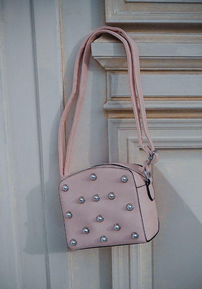 Τσάντα τετράγωνη με strass