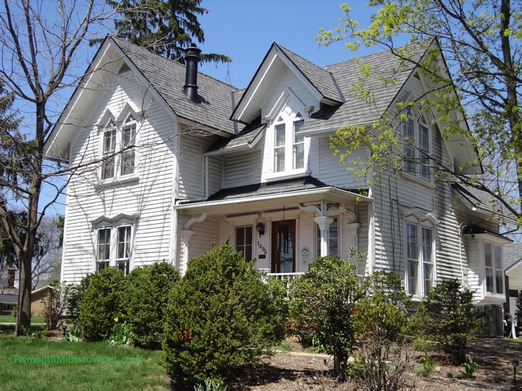 82 best images about plymouth michigan discoveries on for Gothic revival farmhouse