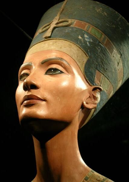 Nefertiti - Her hubbie the heretic king Akhenaten (Amenhotep IV). It is said that even in the ancient world, her beauty was famous. Ruling Egypt from Armana during all of the radical religious changes. She was more than a pretty face however, for she seems to have taken a hitherto unprecedented level of importance in the Amarna period of Egypt's 18th dynasty. She practiced priesthood. She disappeared ..