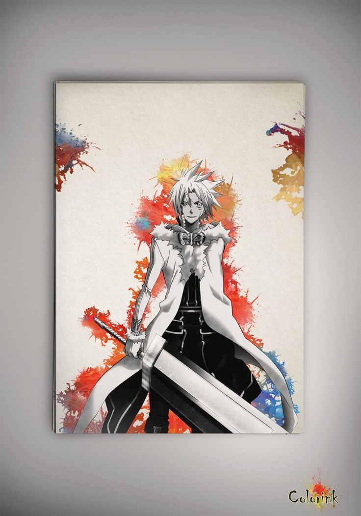 D.Gray-man Anime Manga Watercolor Print Poster Allen Walker Yu Kanda Lenalee Lee