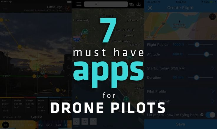 7 must have apps for drone pilots #drone #drones #aerialphotography