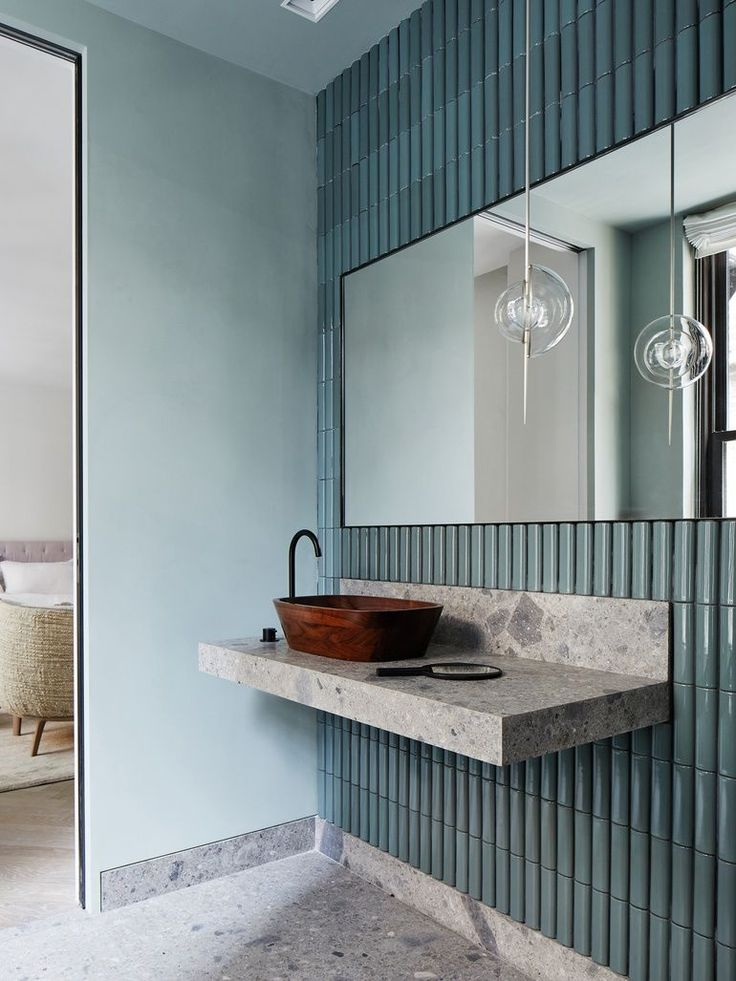 Makeup Artist ^^ | Avenue Road Unveils Conceptual Space in NYC bathroom interior decoration design inspiration photography styling  https://pinterest.com/makeupartist4ever/