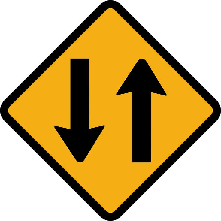 Two Way Traffic Sign Direction transparent image