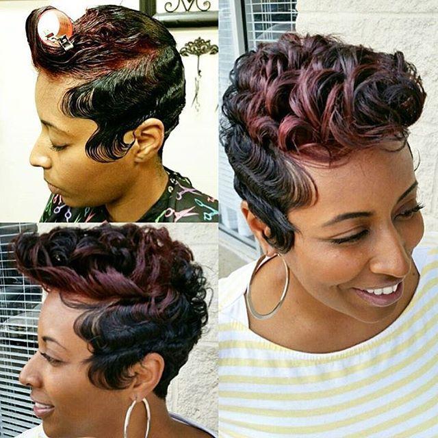 Tremendous 1000 Ideas About Finger Waves Short Hair On Pinterest Finger Short Hairstyles For Black Women Fulllsitofus