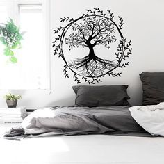 Tree Wall Decals Vinyl Sticker Decal Family Decor Home Nursery Bedroom Art Window Interior Design Murals Ah139