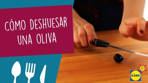 Deshuesar oliva