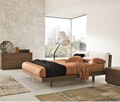 Veneran Italia | GEMO Italian Solid Birch & Oak Bed with Real Leather - Head2Bed UK