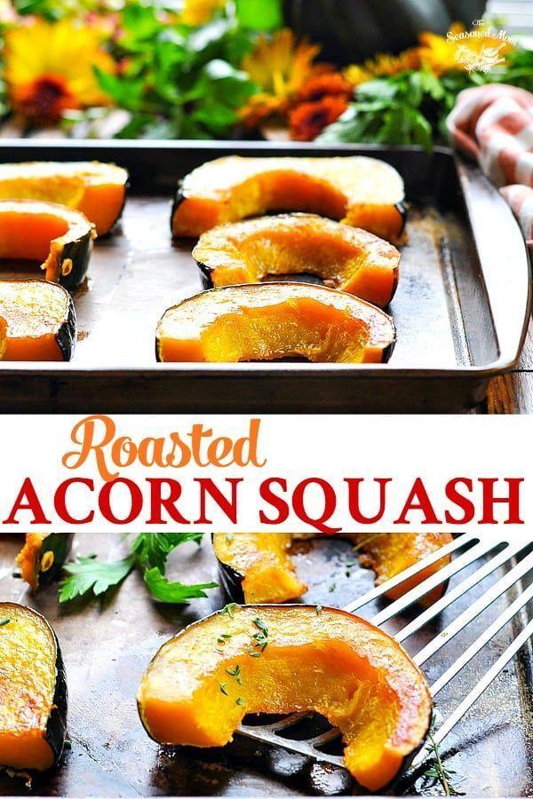 Brown Sugar Roasted Acorn Squash Recipe Healthy Vegetable