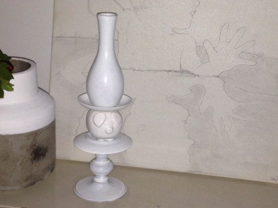 SaveThePig - Candle holder made of vintage ceramics by TheDustTrapCompany on Etsy