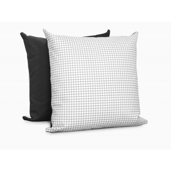 Twig+Nest Grid Pillow (3,185 PHP) ❤ liked on Polyvore featuring home, home decor, throw pillows, black and white accent pillows, black and white throw pillows, black white throw pillows, black white home decor and black and white home decor