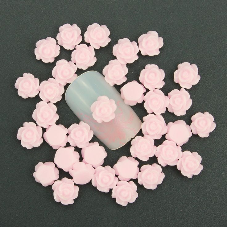 3d nail art decoration charm jewelry diy design by yourself pink flower romantic nail stud tipsdiy  nail accessories PJ211