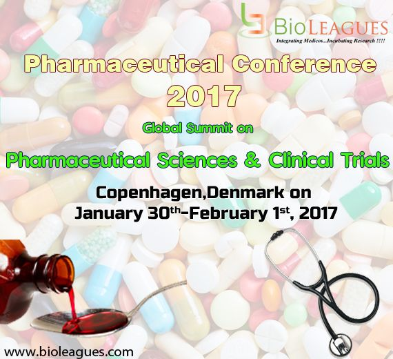 Welcome to International conference in Pharmaceutical Sciences & Clinical Trials '2K17 at Copenhagen,Denmark on January 30th-February 1st, 2017 Venue: CABINN Scandinavia Vodroffsvej 55,  1900 Frederiksberg C, Denmark Contact: +45 3246 5707 For more details kindly visit us http://goo.gl/N0LKMb #pharmacology #pharmacyconference #pharmacognosy #pharmacogenetics #internationalpharmacyconference #Conferenceinpharamacy #events #pharmaseminar #pharmaforum #meeting #international_conference Image…