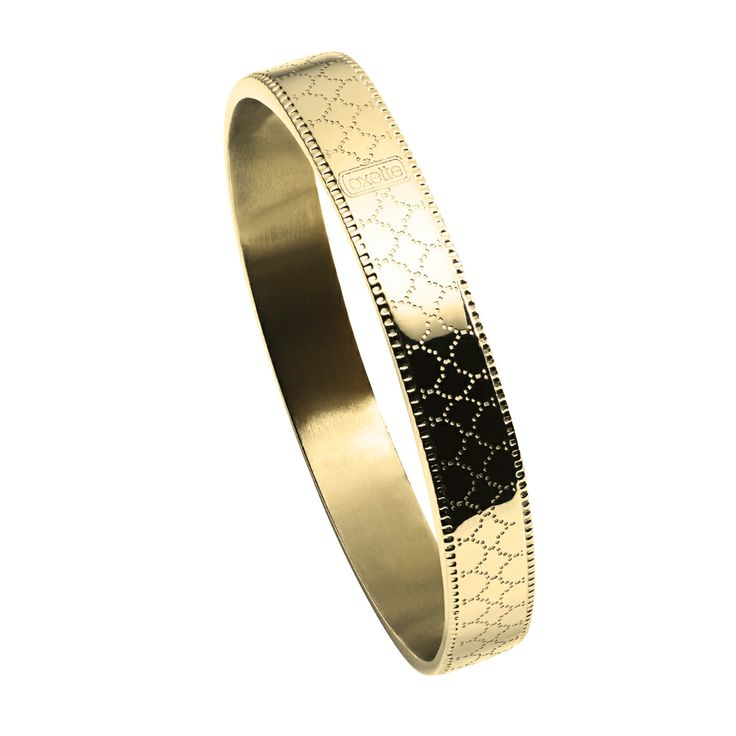 Oxette Gold plated Bracelet - Available here: http://www.oxette.gr/kosmimata/vrahiolia/bracelet-with-pattern-gold-plated-163l-1/