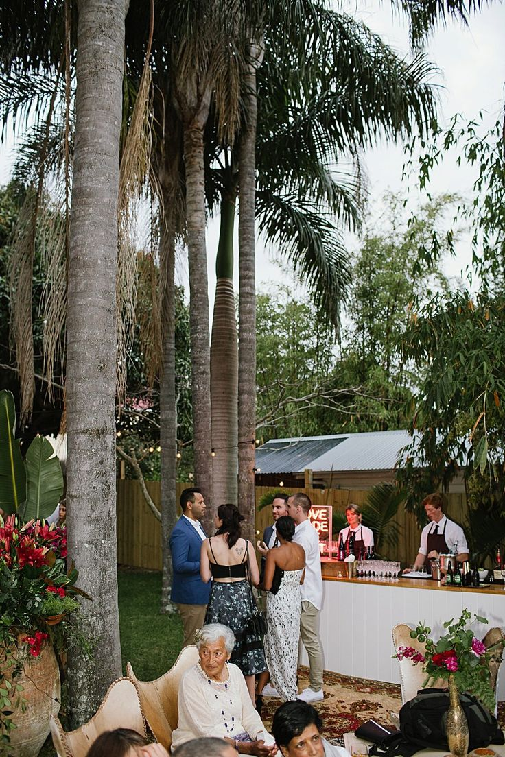 {Real Wedding} Our super sweet Jess + Matt wed in the heart of Byron Bay, then partied amougst a sea of moroccan rugs, gold accents, low tables, palm trees + bougainvilleas // Created by The Events Lounge Team   www.theeventslounge.com.au