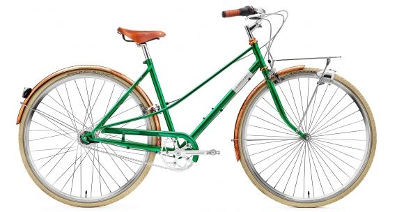 Creme Caferacer Doppio Lady 7-speed emerald green