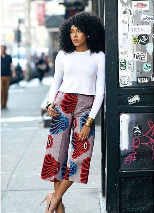 Tendance - Si chic en pantacourt pagne - Pagnifik ~African fashion, Ankara, kitenge, Kente, African prints, Senegal fashion, Kenya fashion, Nigerian fashion, Ghanaian fashion ~DKK