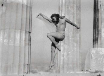 Nelly's (Elli Souyioultzoglou-Seraidari), Hungarian dancer Nikolska at the Parthenon. on ArtStack #nelly-s-elli-souyioultzoglou-seraidari #art