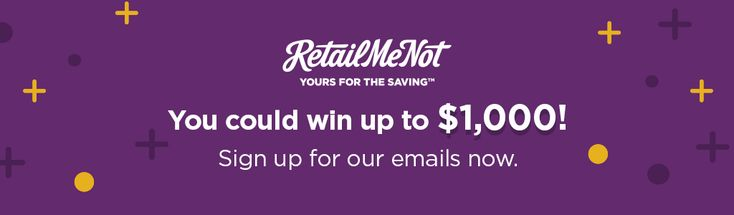 Win cash prizes on RetailMeNot - Subscriber Sweepstakes