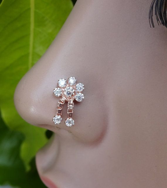 Nose Stud Indian Traditional Nose RingMedusa by TheEthnicJewels