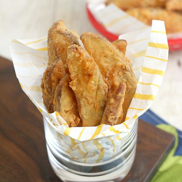 Copycat KFC Potato Wedges by Tracey's Culinary Adventures, via Flickr. #potatoes #fried #battered
