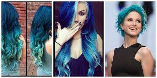 ¡Fabuloso! Cabello Azul #hairstyle #women #fashion #moda #mujeres