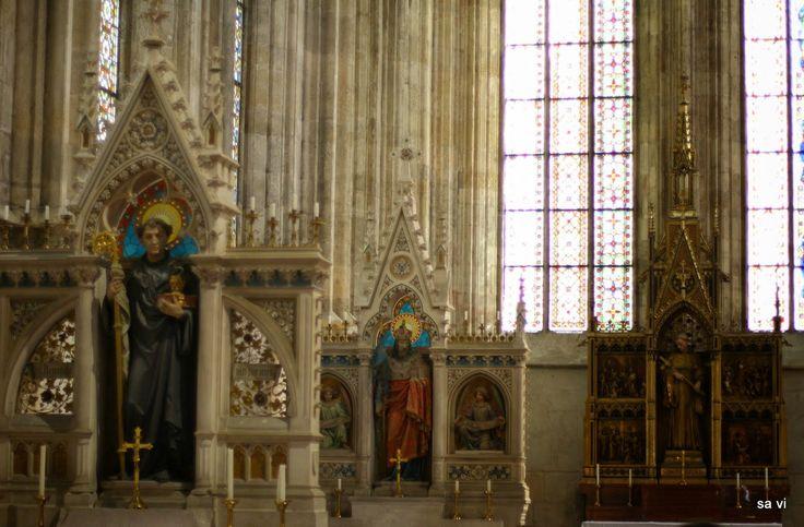 Altar of St Benedikt, St Leopold and St Bernhard Heiligenkreuz cloisters