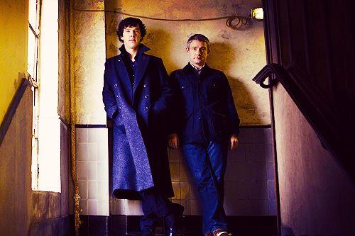 classy :D: Sherlock Bbc, John Cross, Bbc Sherlock, Benedict And Martin, Sherlock John, Sherlock Holmes, Benedict Cumberbatch