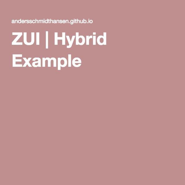 ZUI | Hybrid Example