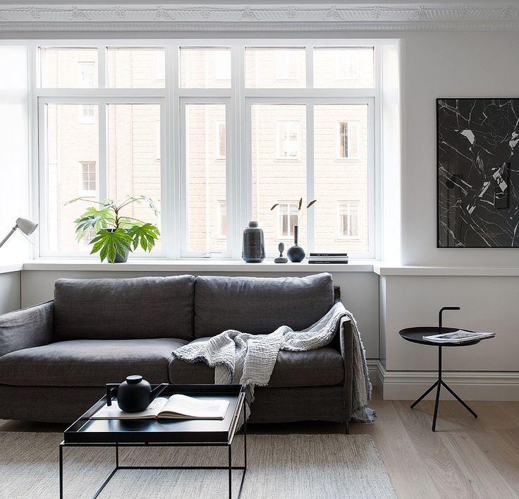 Simple monochrome home - via cocolapinedesign.com | Living