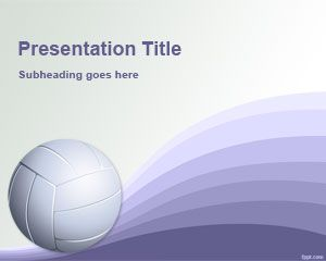 Volleyball PowerPoint Template is a free sports template that you can download to make awesome sports presentations in Microsoft PowerPoint