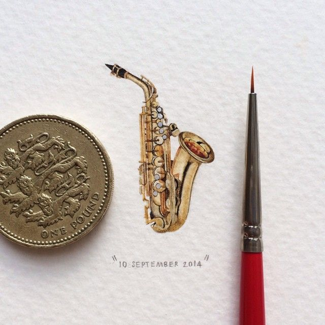 365 Postcards For Ants: Illustrator Creates One Mini Painting Per Day For A Year | Bored Panda