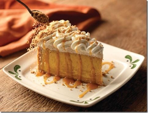 Olive Garden Pumpkin Cheesecake.  Was there last night and tasted this yummy dessert...