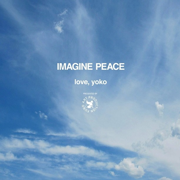 IMAGINE PEACE love, yoko