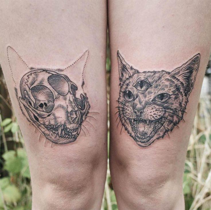 Les tatouages de Pony Reinhardt, entre nature et gravures anciennes