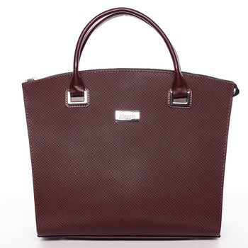 Dámská luxusní kabelka vínová saffiano #Delami Florida
