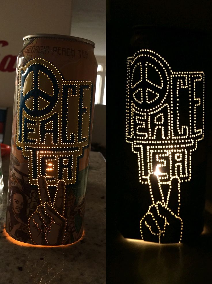 peace tea candle! Wow these are so easy to make, and so, so beautiful!