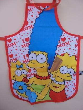 Delantal Parrilleros Simpsons Familia | www.losparrilleros.cl