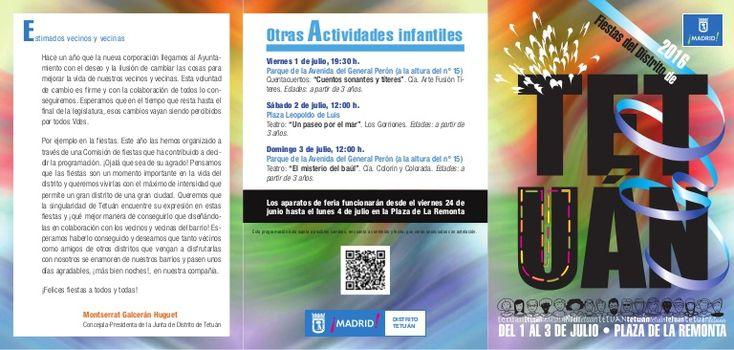 Fiestas del distrito de Tetuán 2016. del 1 al 3 de julio en la plaza de la Remonta. Conciertos de Mártires del Compás y Nacha pop