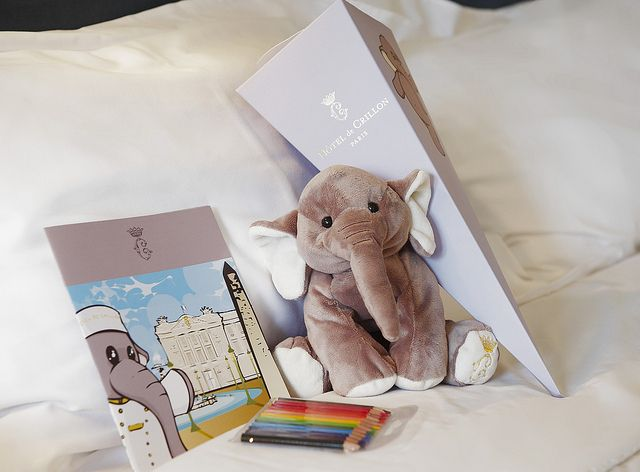 Elephant plushie and welcome gifts for kids at the Hotel ...