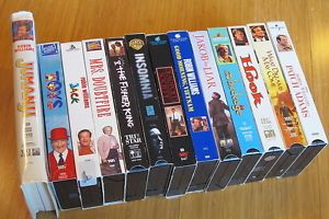 zachary pym williams | huge lot of 13 robin williams vhs videos film movies collection hook