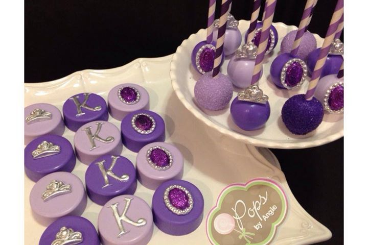 sofia the first cake pops - Google Search