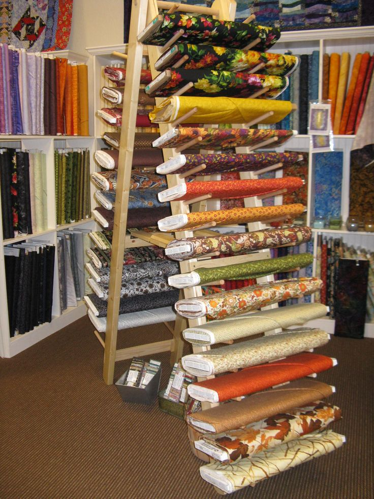 Fabric bolt Holder Racks made for A Stitch in Time in ...