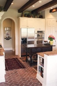 best 25+ brick floor kitchen ideas on pinterest   wood cabinets