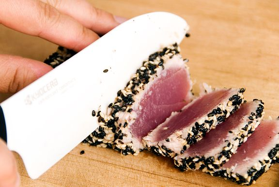 pan-seared sesame-crusted tuna - deliciousness with honey and soy dressing