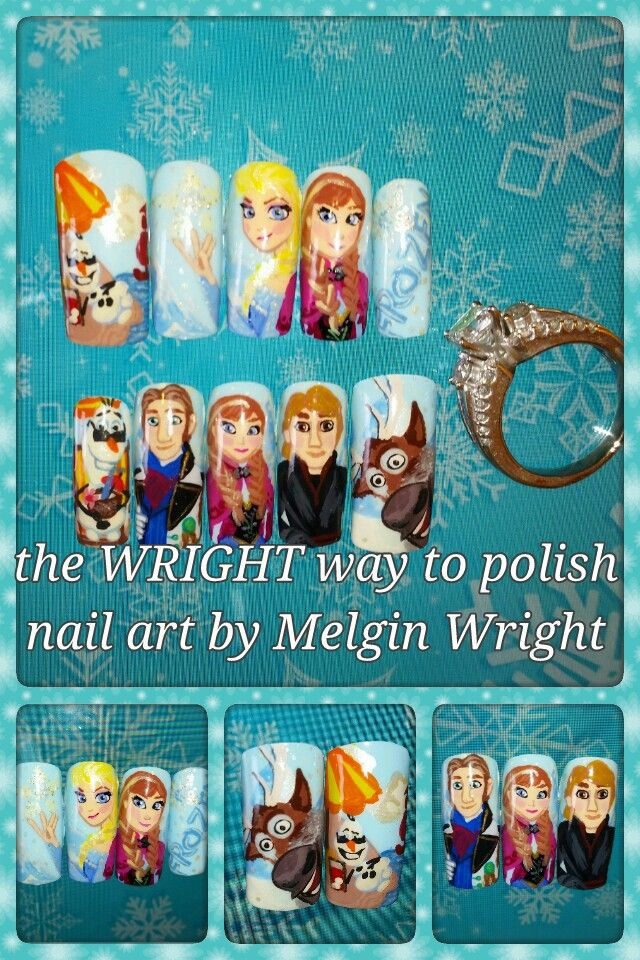 21 best Movie and Cartoons Inspired Nail Art images on