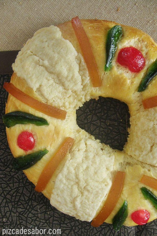 Rosca de Reyes | http://www.pizcadesabor.com/2013/01/03/rosca-de-reyes/