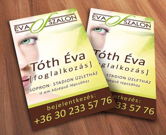 Eve salon's name card by s23.hu