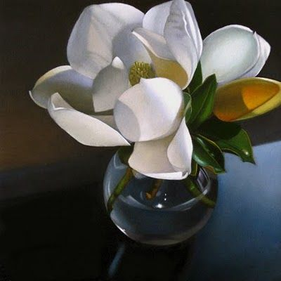 """Magnolia 6x 6"" - Original Fine Art for Sale - © M Collier"